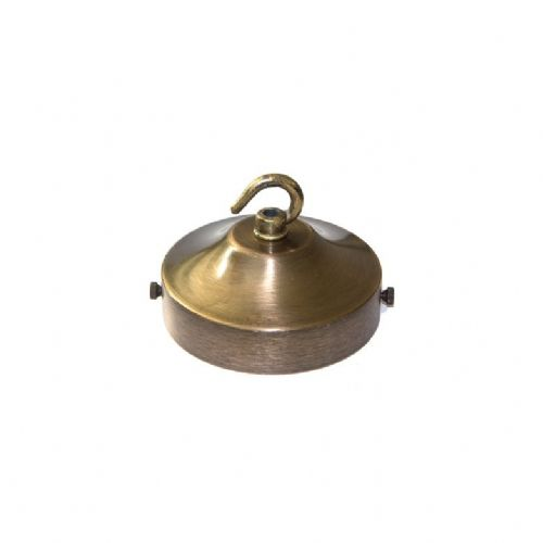 Brushed Antique Brass Finish Hooked Ceiling Cover & Strap For Chandeliers
